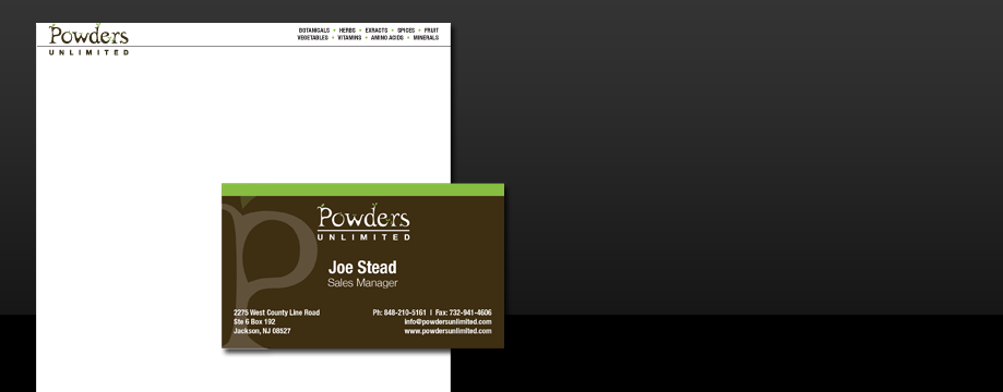 Powders Unlimited Branding